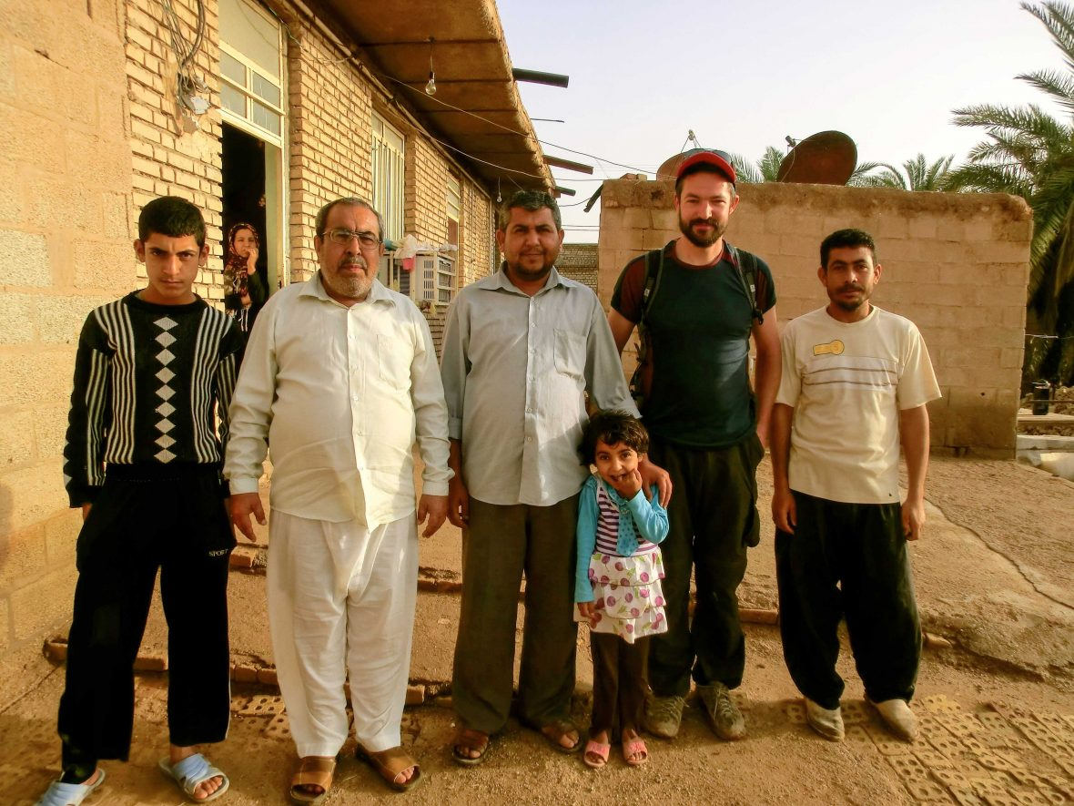 Being hosted in south western Iran by strangers.