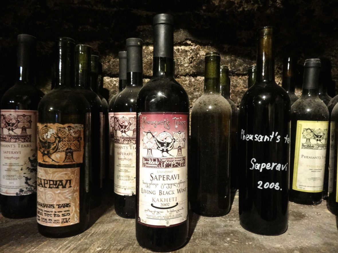 A selection of wines by Pheasant's Tears, Georgia.