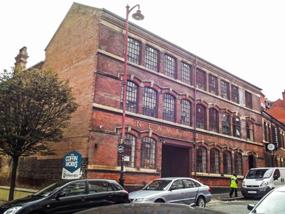 The Coffin Works Museum, once an operational factory, in Birmingham, UK.