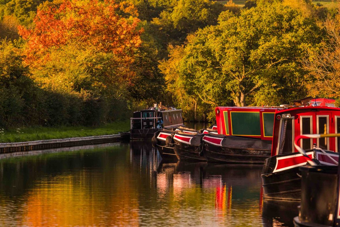 The canals of Birmingham, UK.