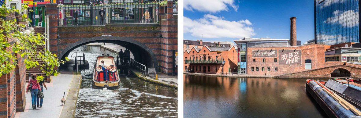 The canals in Birmingham, UK.