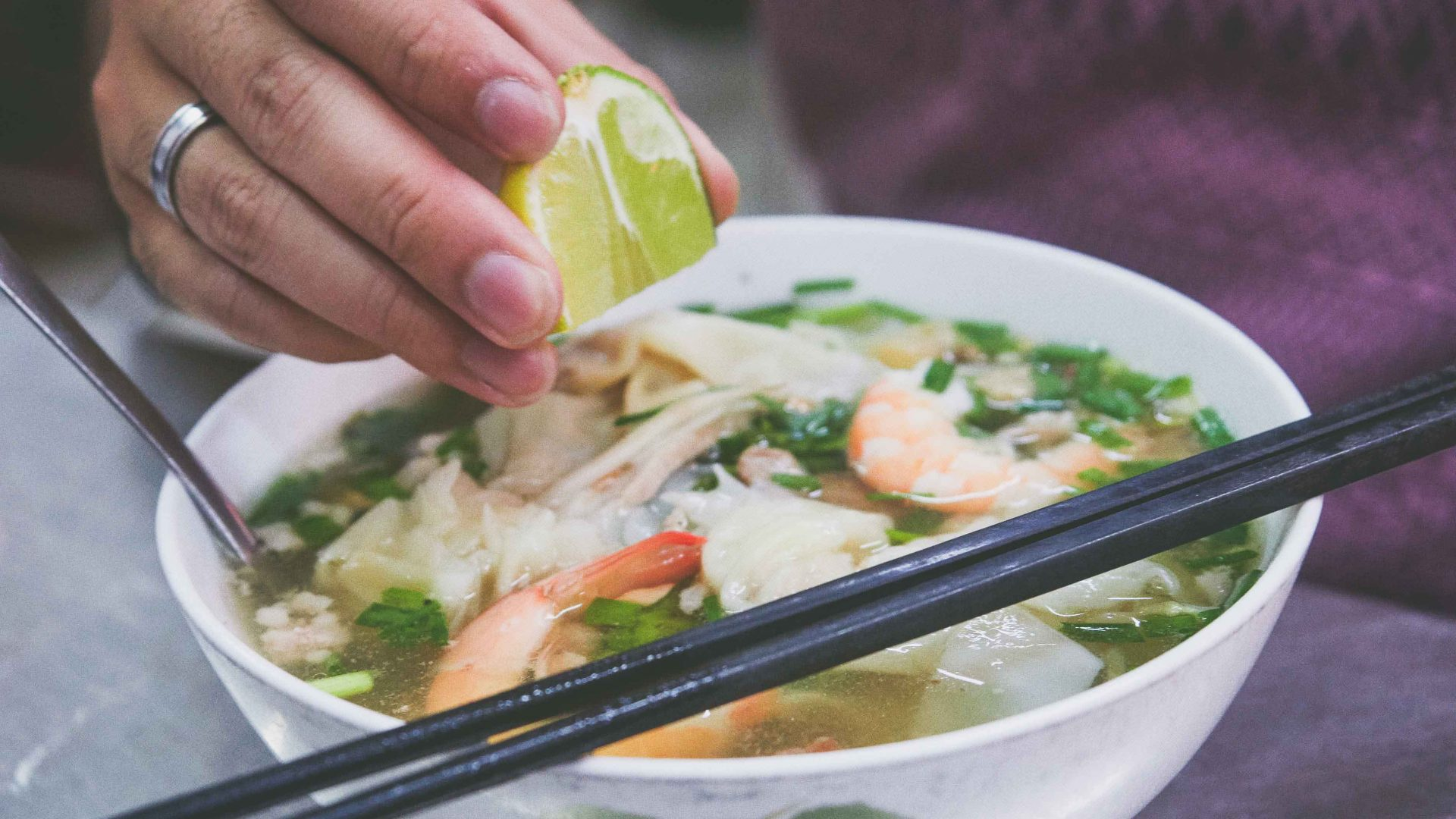 Ho Chi Minh street food: One of the legendary bowls of hu tieu nam vang noodle soup at Vo Thi Ngoc Nhung's food cart, Amen.