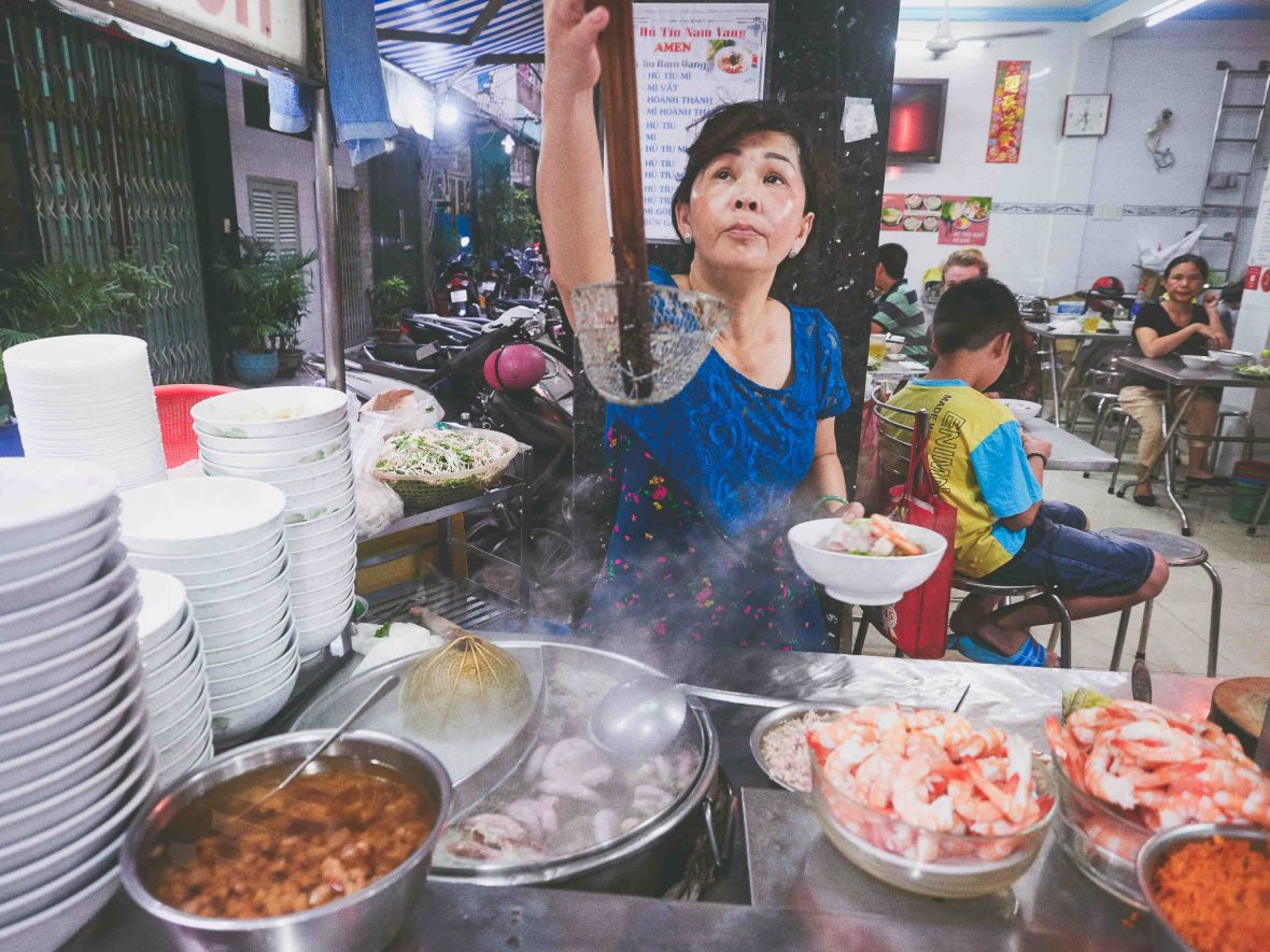 Ho Chi Minh street food: The family recipe for Vo's 'hu tieu nam vang' (noodle soup) is a closely guarded secret.