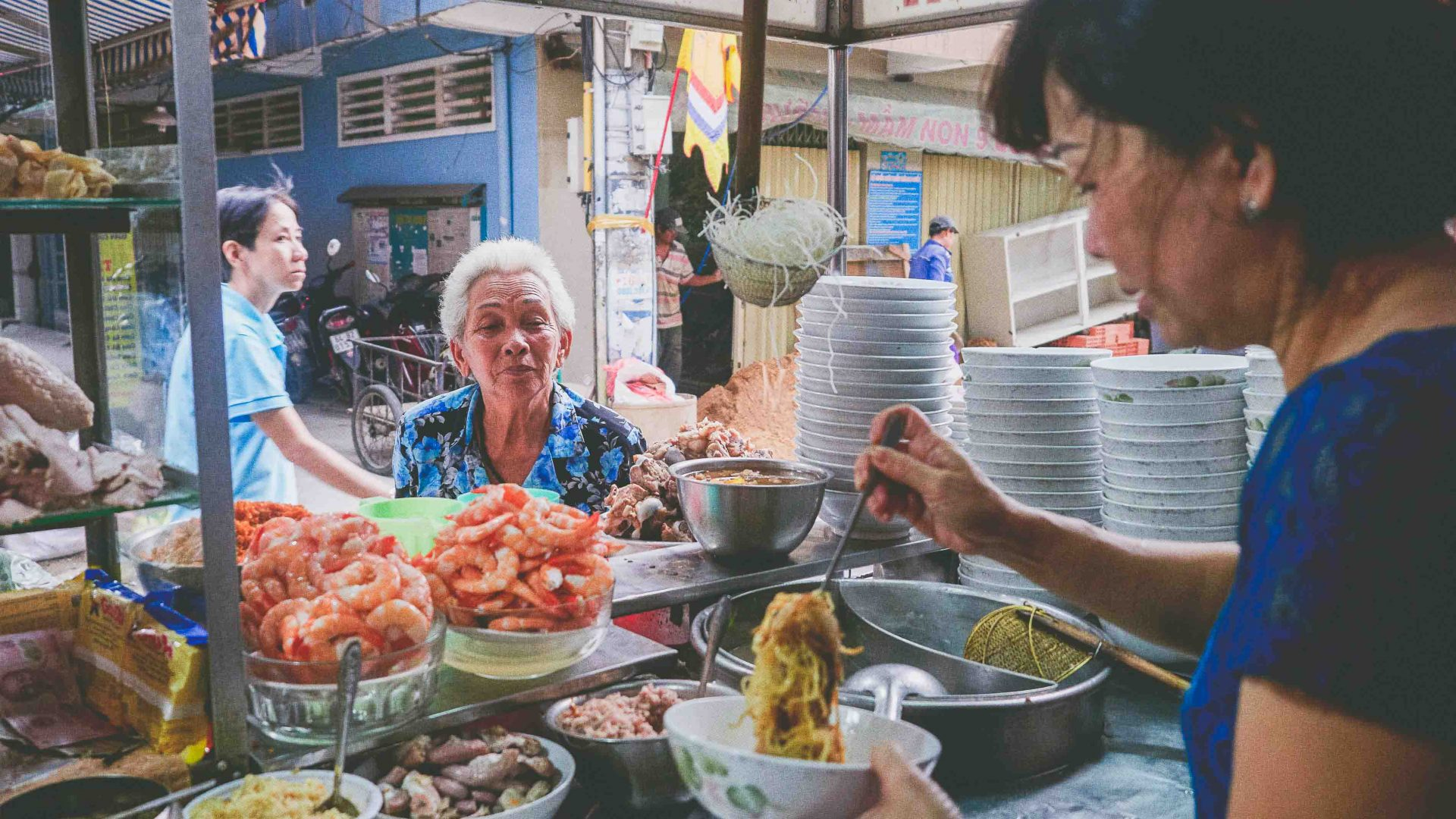 Ho Chi Minh street food: Vo Thi Ngoc Nhung's food cart, Amen, is one of Ho Chi Minh City's oldest food stalls.