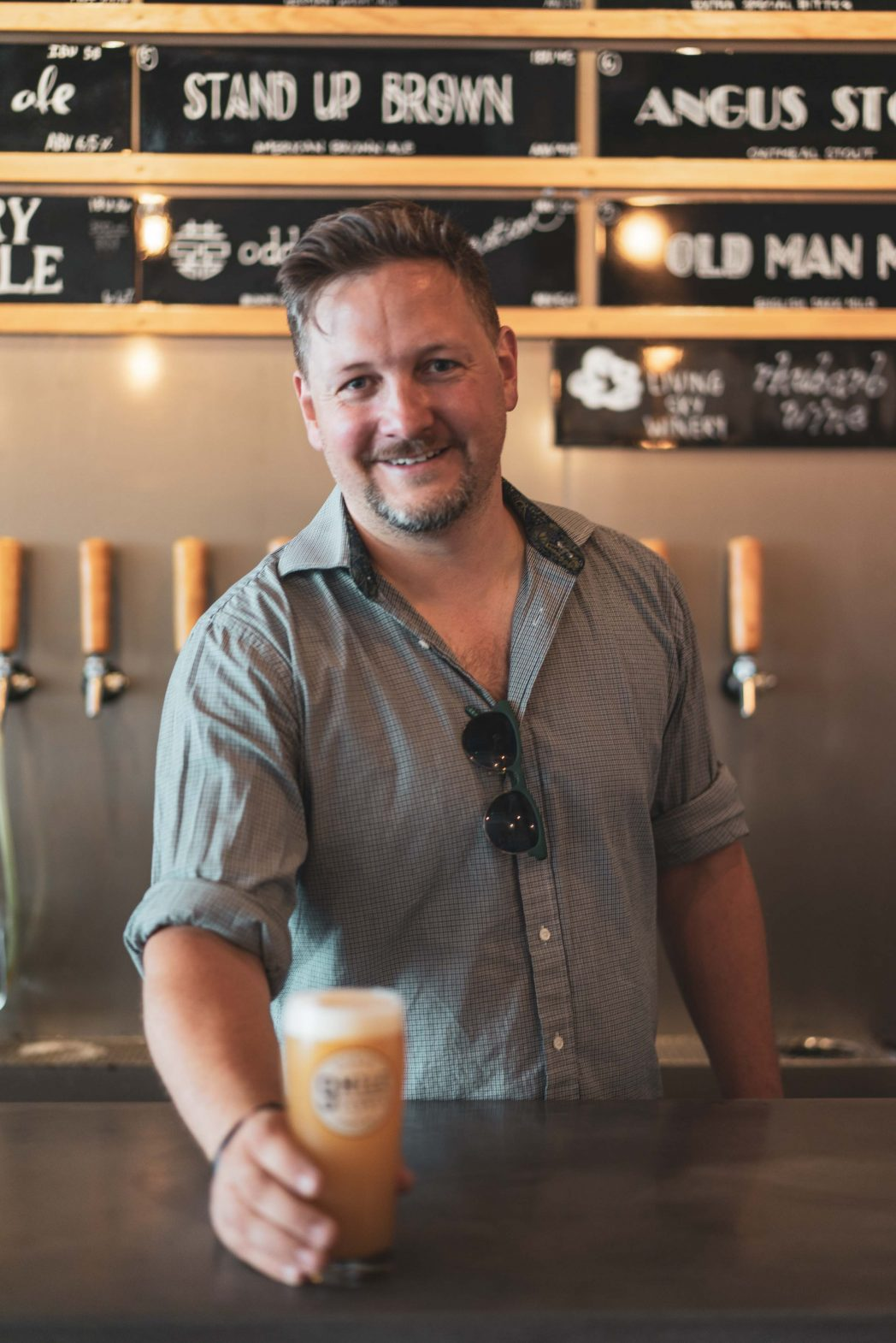 Shawn Moen, co-owner of 9 Mile Legacy, Saskatoon's first nanobrewery.