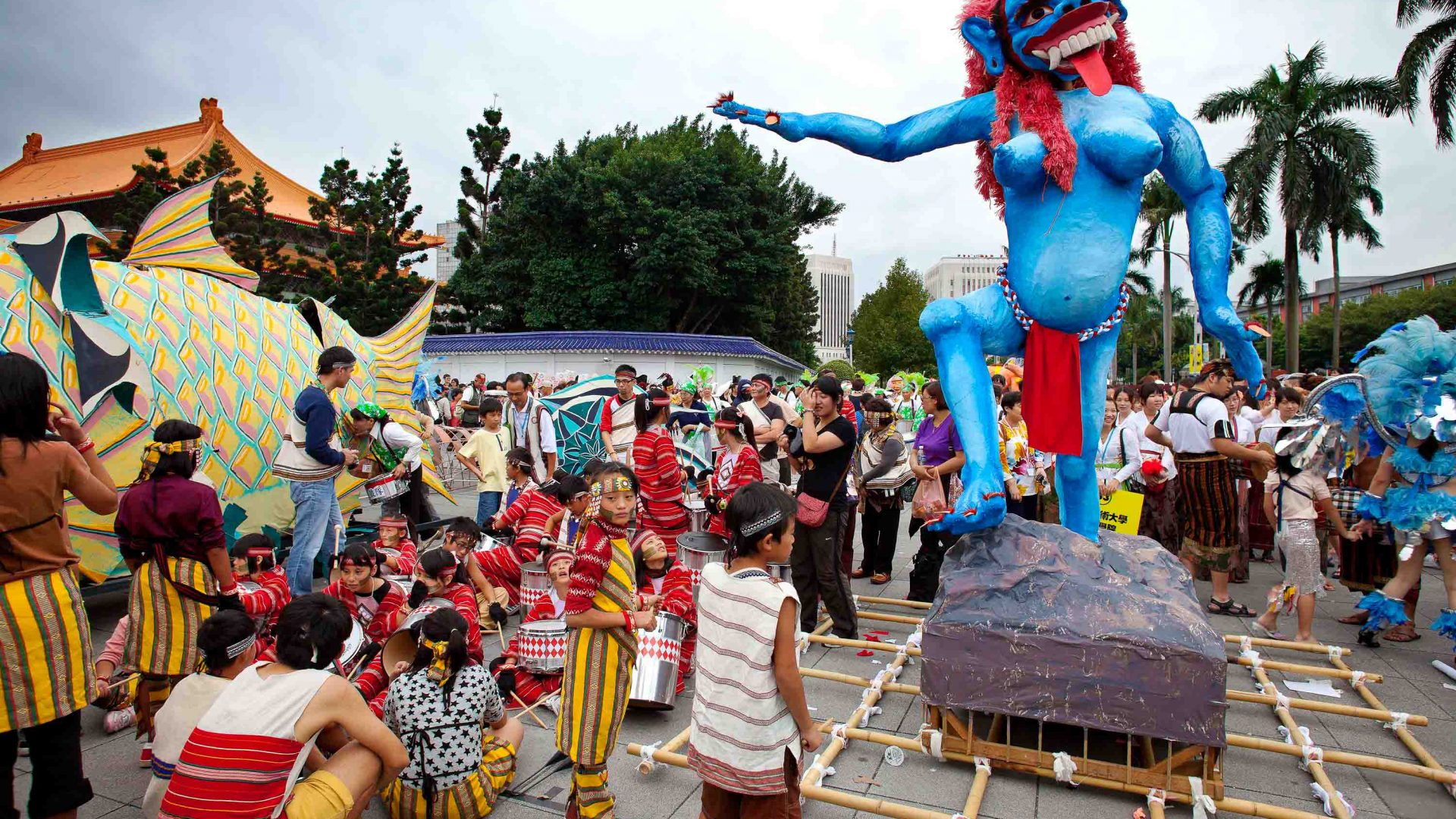Papier-mâché floats have been known to be as high as three-storey buildings at Taipei's Dream Parade.