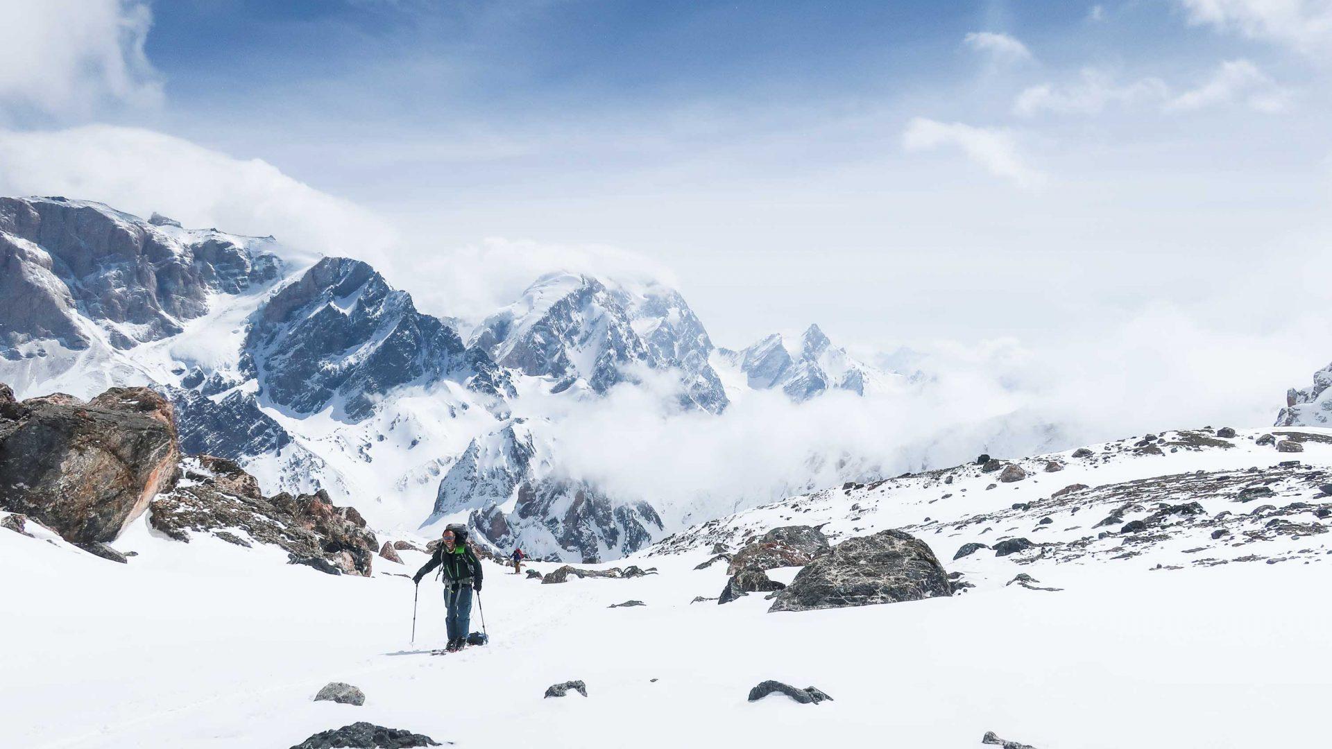 Heading up toward Chimtarga Pass, Tajikistan.