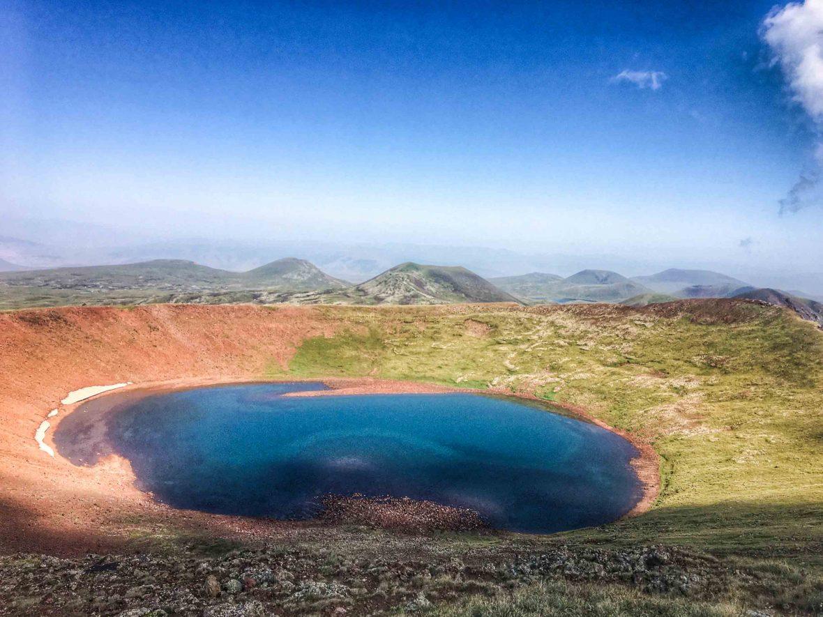 Armenia Lake on Azhdahak, Caucasus, Armenia.