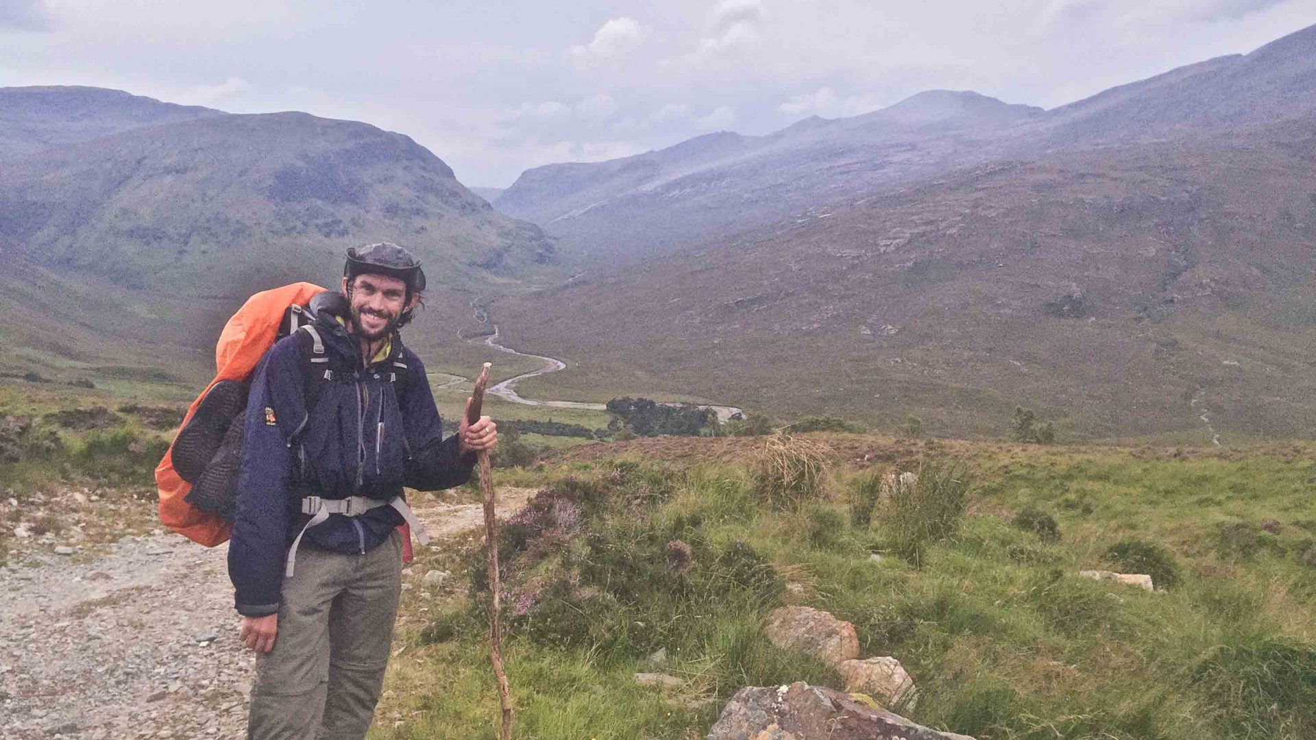 Writer Luke Waterson reaches the halfway point near Ullapool along Scotland's Cape Wrath Trail.