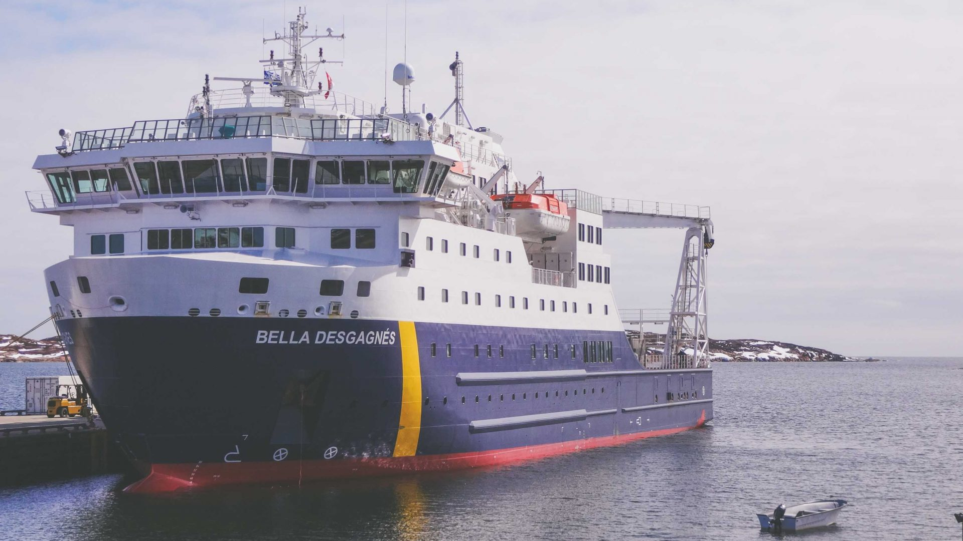 The cargo/passenger ship MV Bella Desgagnes.