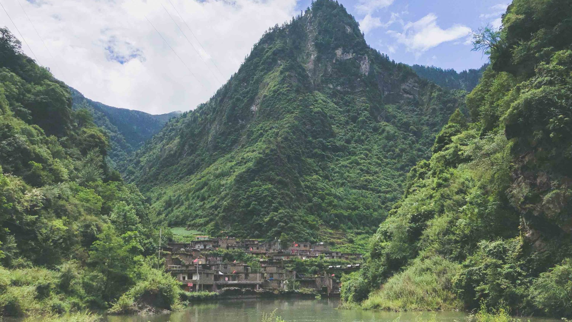 A typical Qiang village in China.