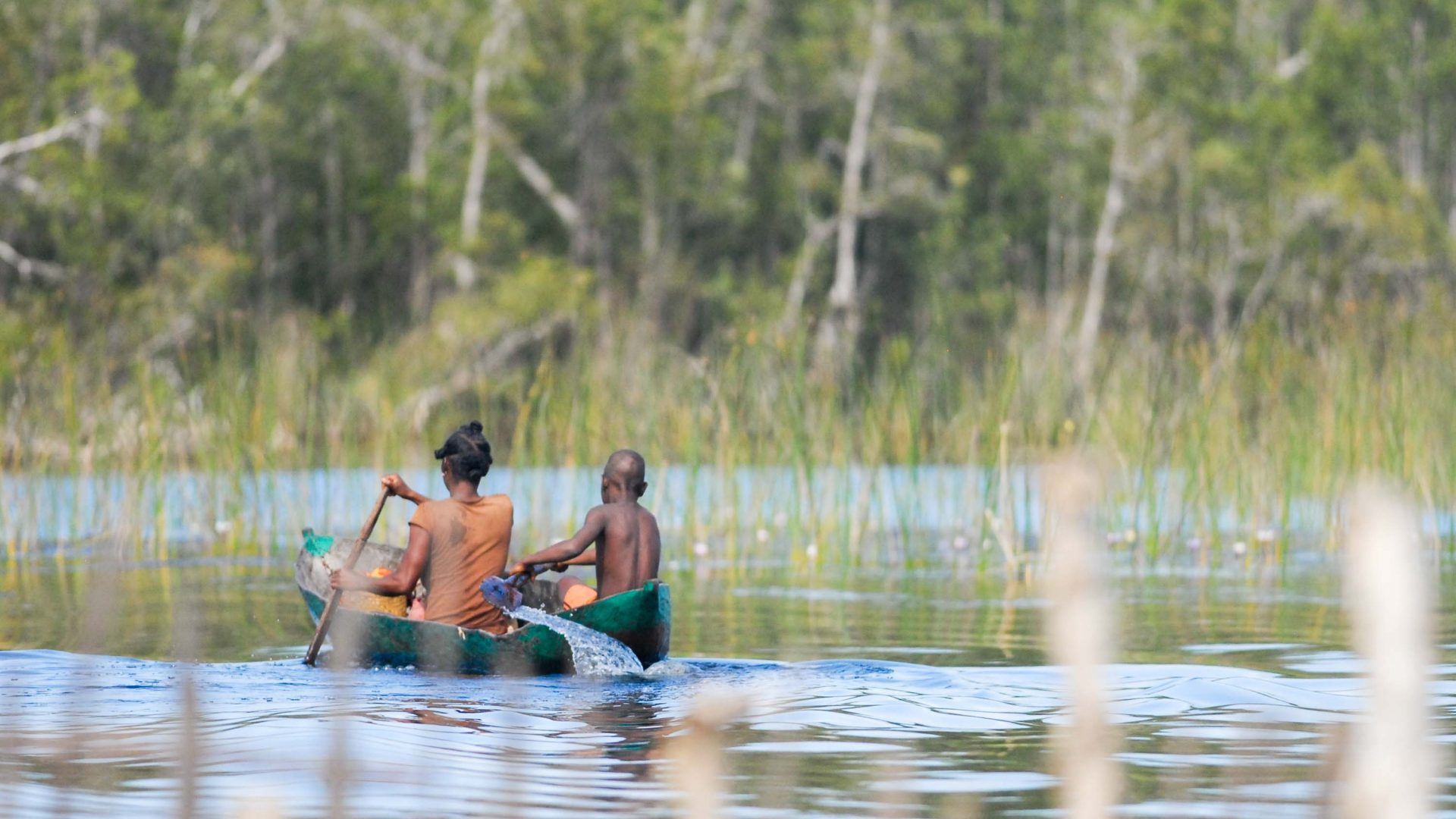 Fishermen in Pangalanes Canal, Madagascar.