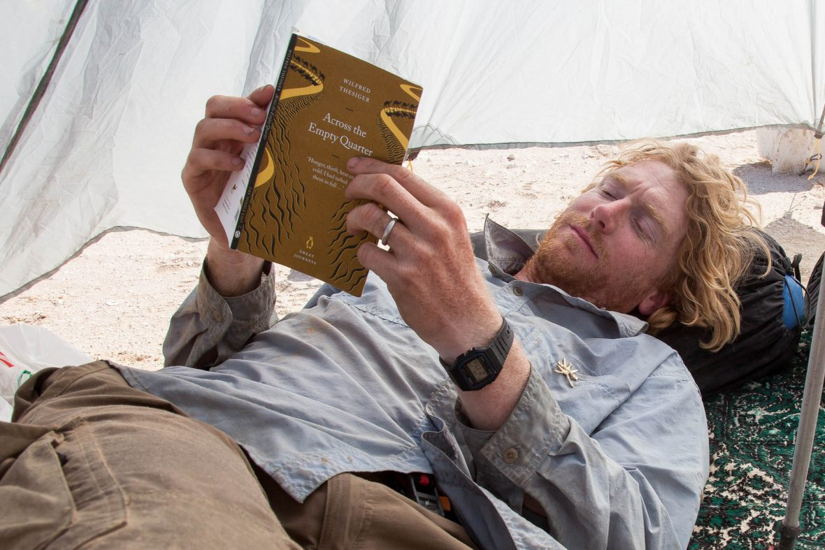 Alastair Humphreys reading Wilfred Thesiger's accounts of the Empty Quarter desert while re-tracing those steps.