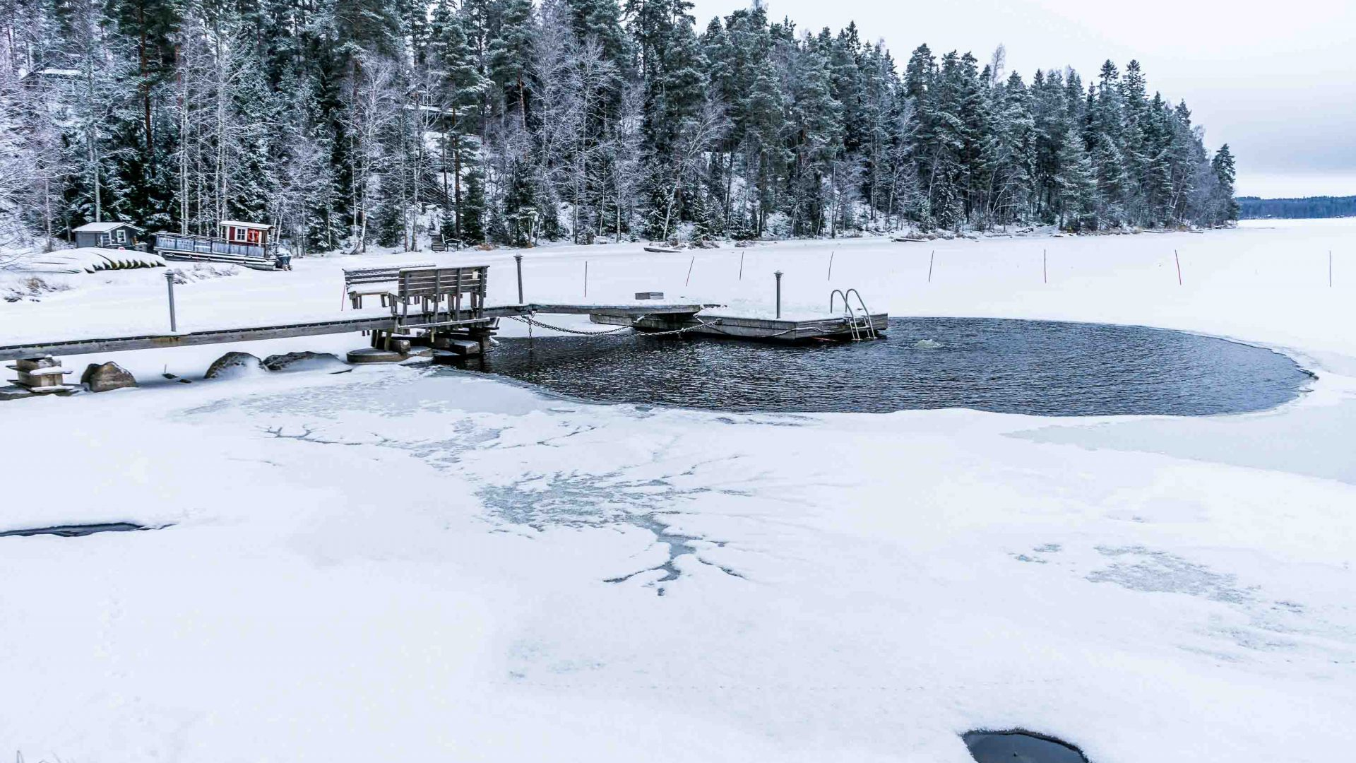 Ice swimming in one of Finland's lake is an invigorating activity for many Finns.