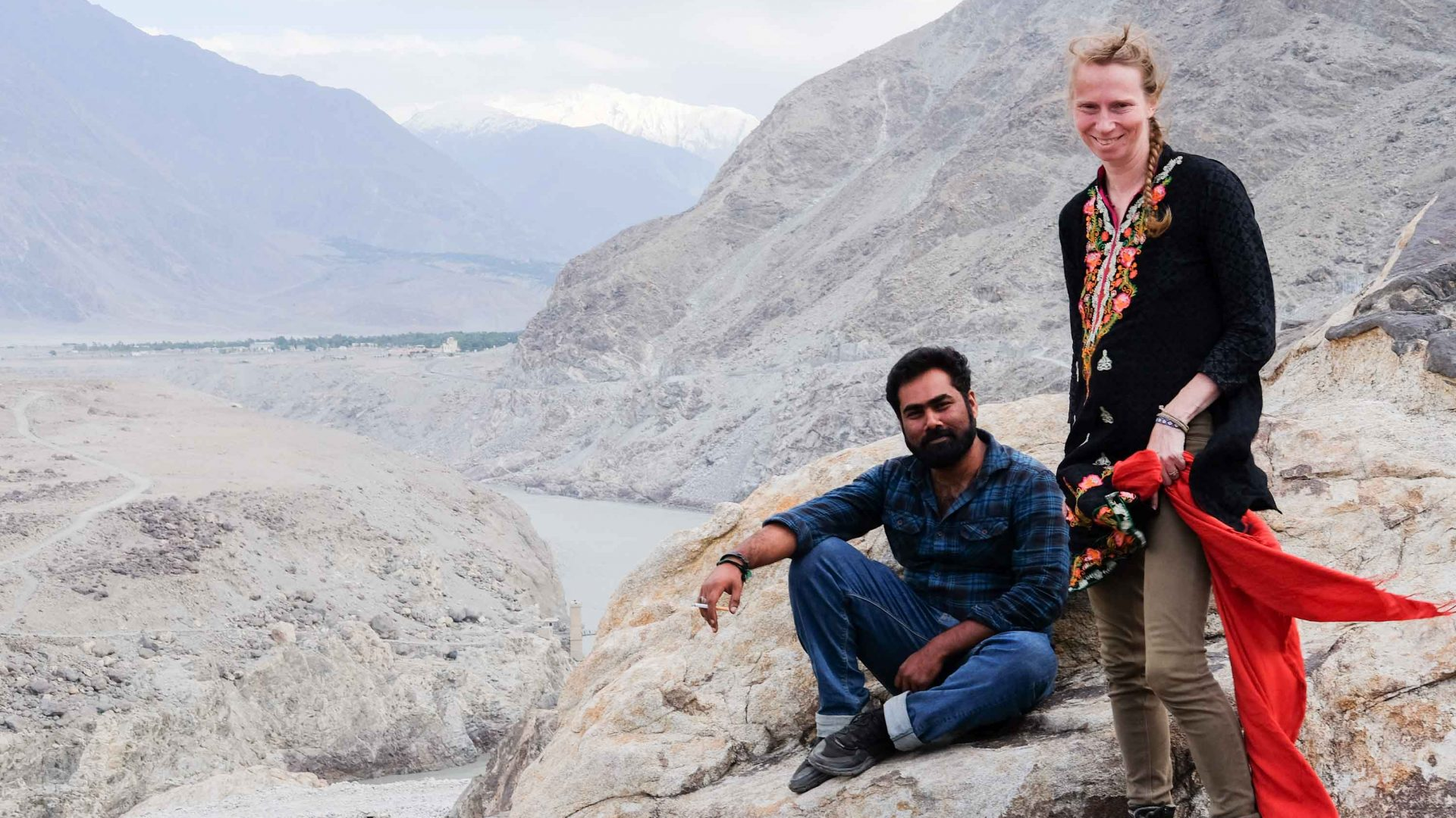 Syed Hamza Mobeen, better known as Shah, and Liz Norman, Shah's Australian wife, are the founders of Karakoram Bikers.