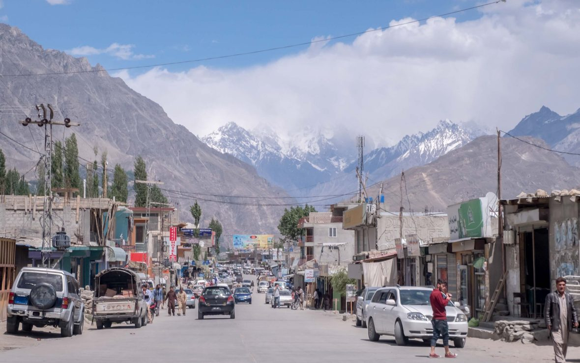 The Pakistani town of Skardu was once well visited as part of the 'hippie trail', but now lacks tourists owing to fears of terrorism.