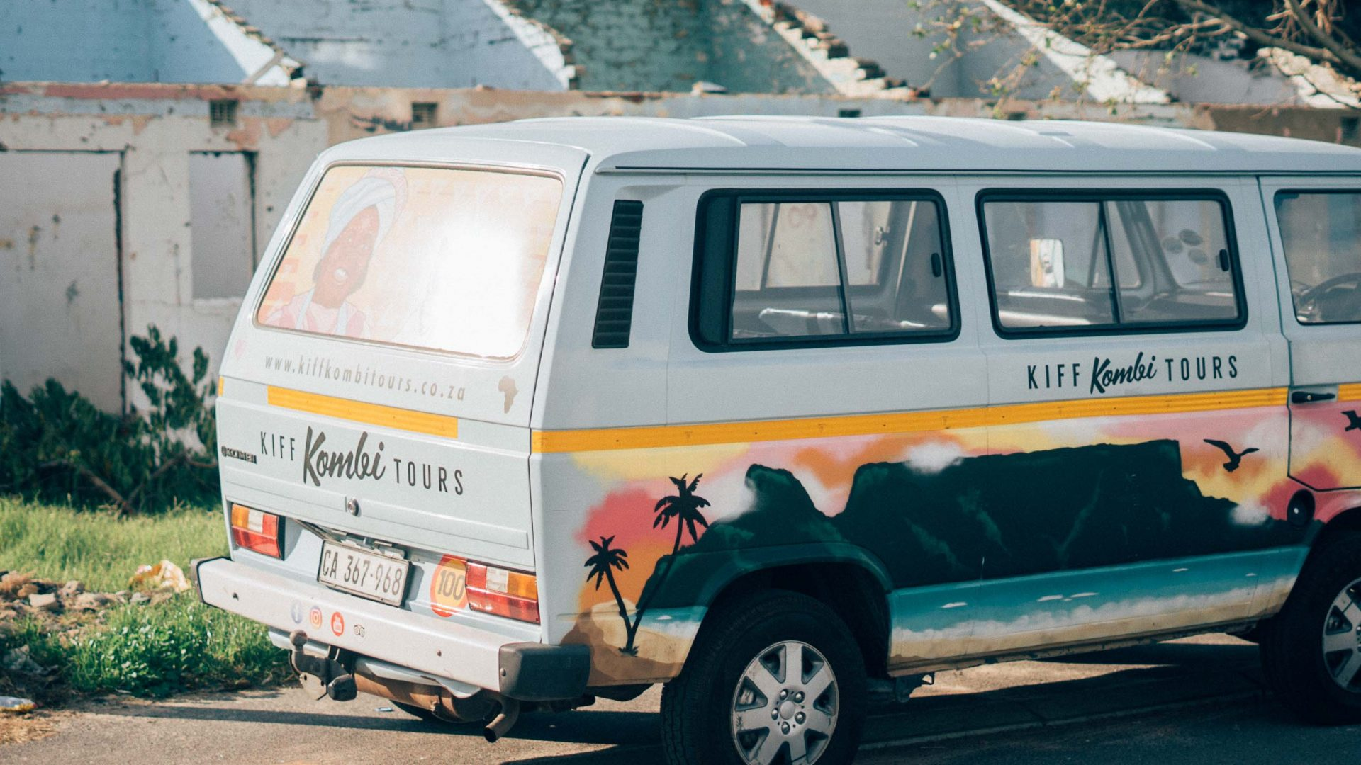The Kombi used for tours of Langa, Cape Town.