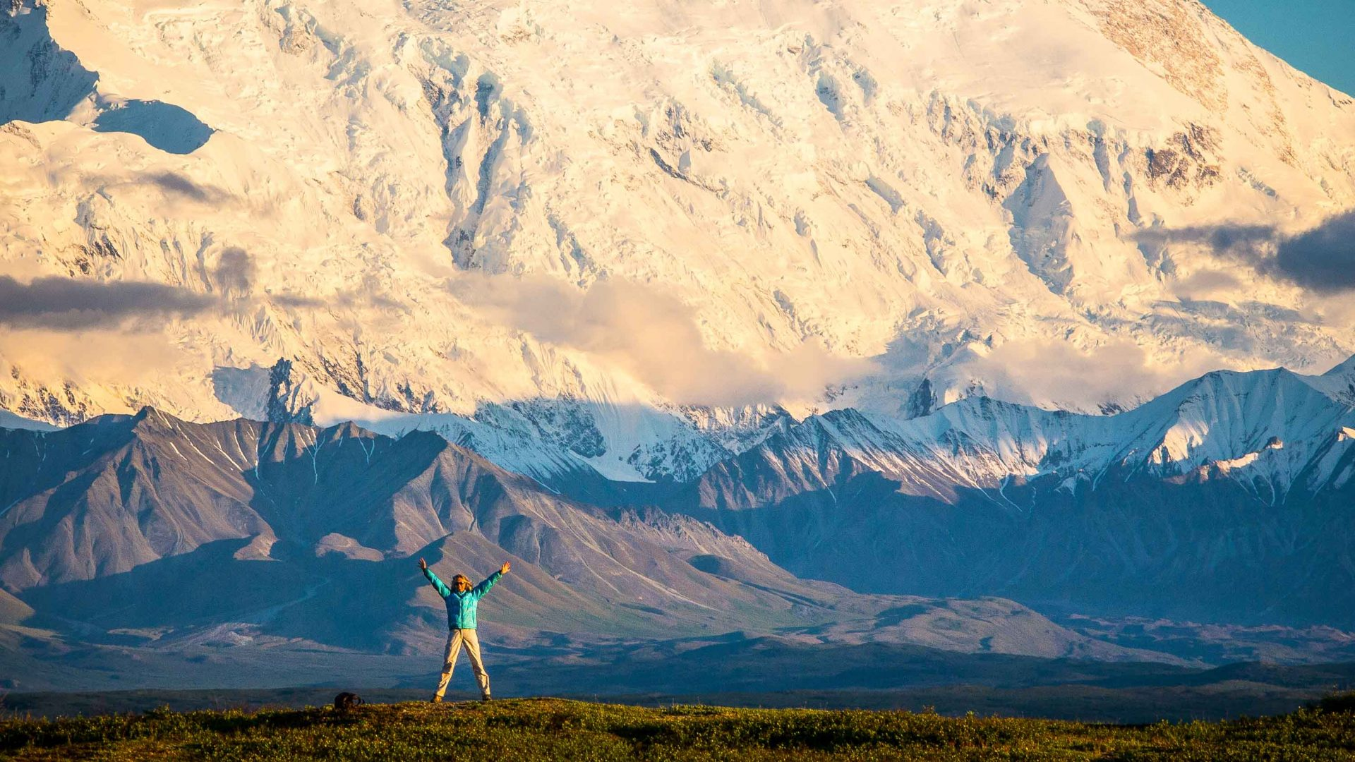 Claudia Janssen at Denali National Park, Alaska.