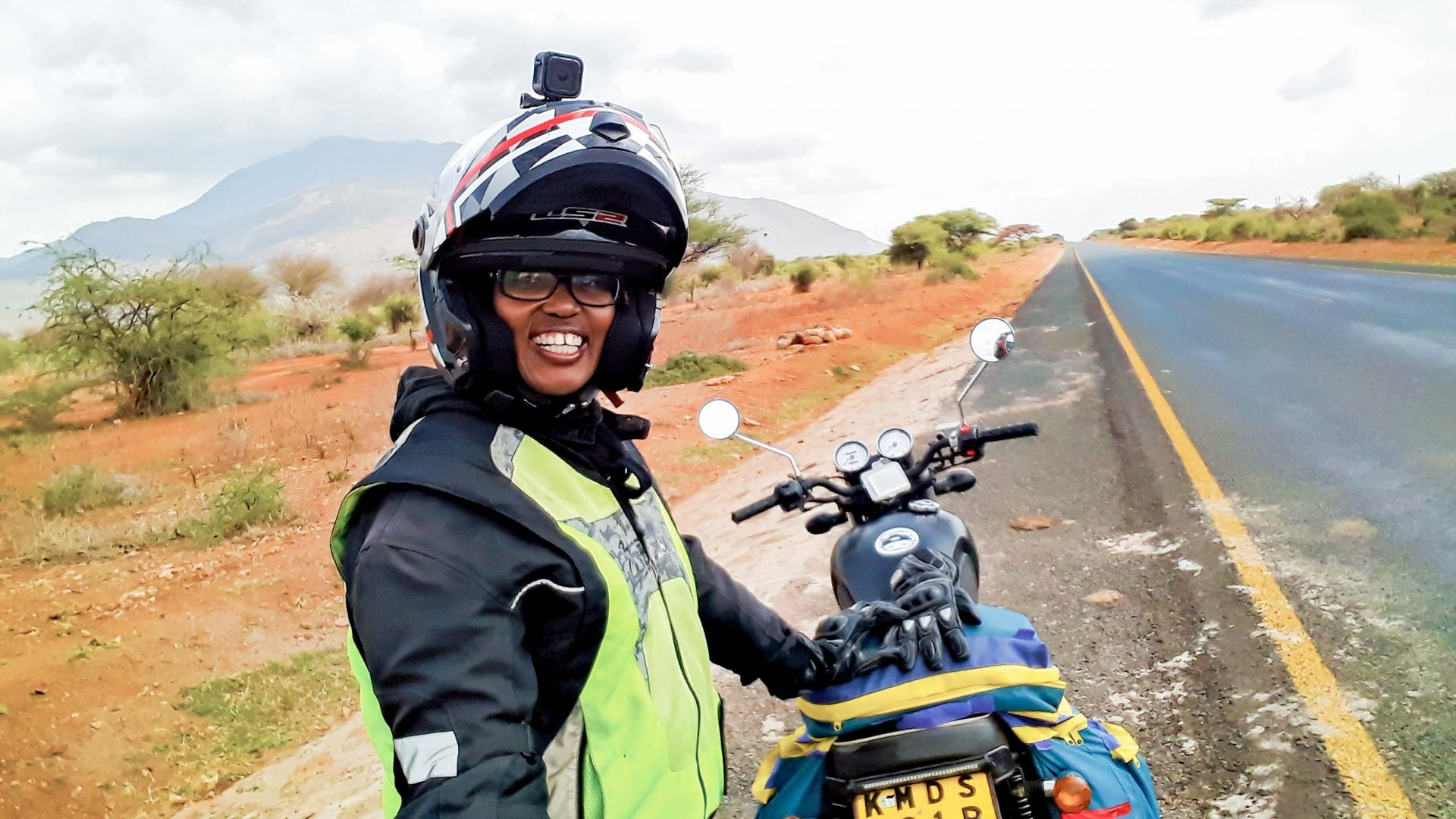 Wamuyu riding solo in Tanzania.