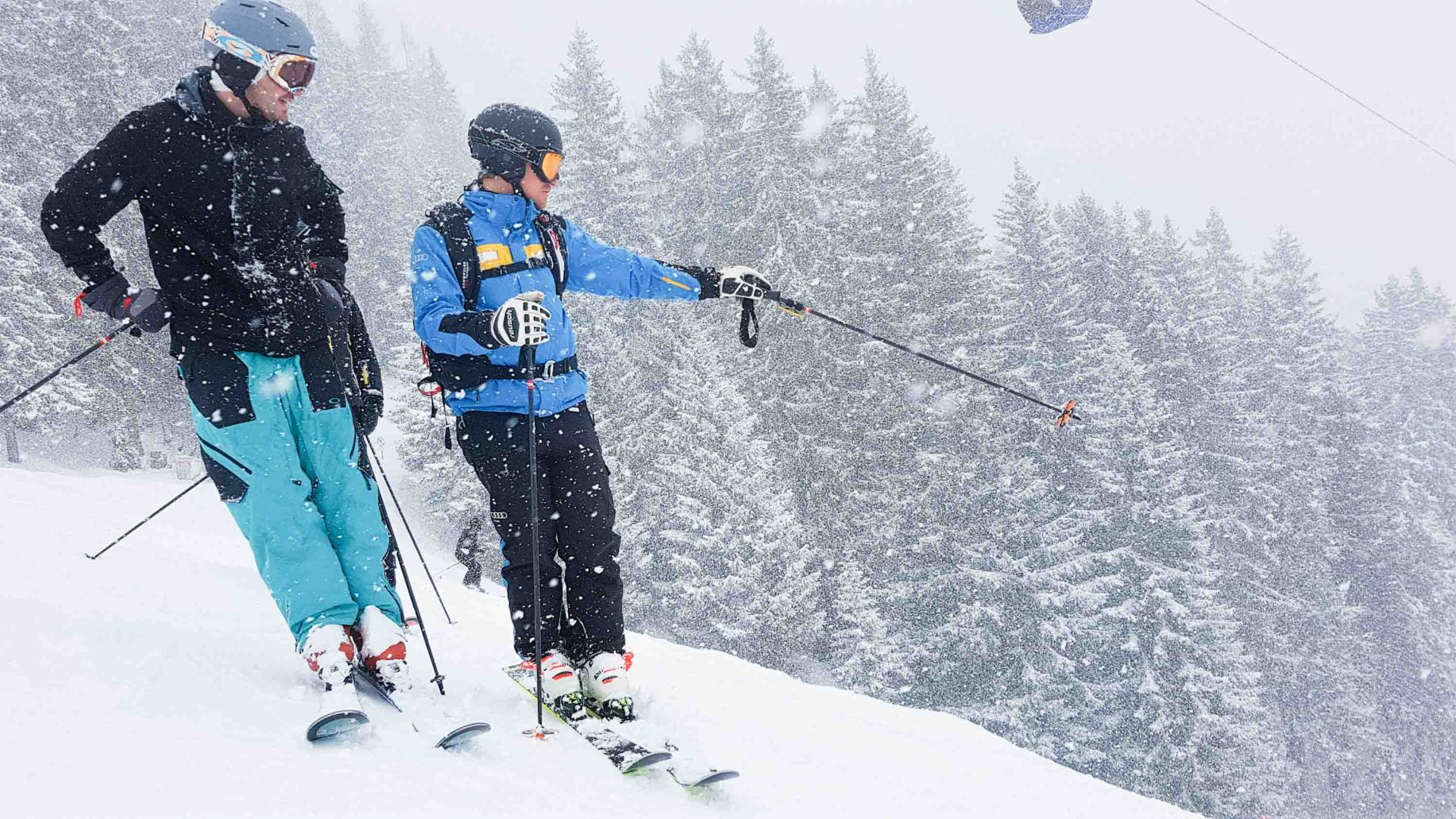 Skiing in St. Anton am Arlberg, Austria.
