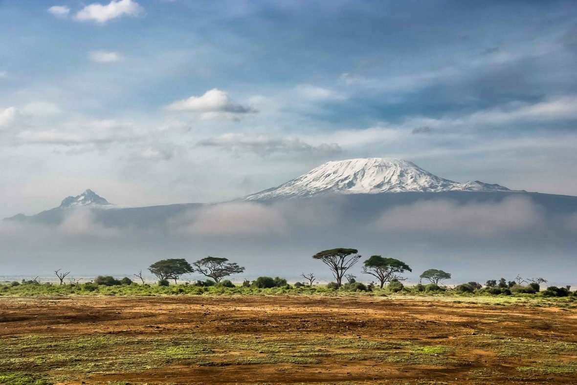 Kenya's Mount Kilimanjaro, one of teh 25 equatorial peaks that Tim Jarvis is climbing.
