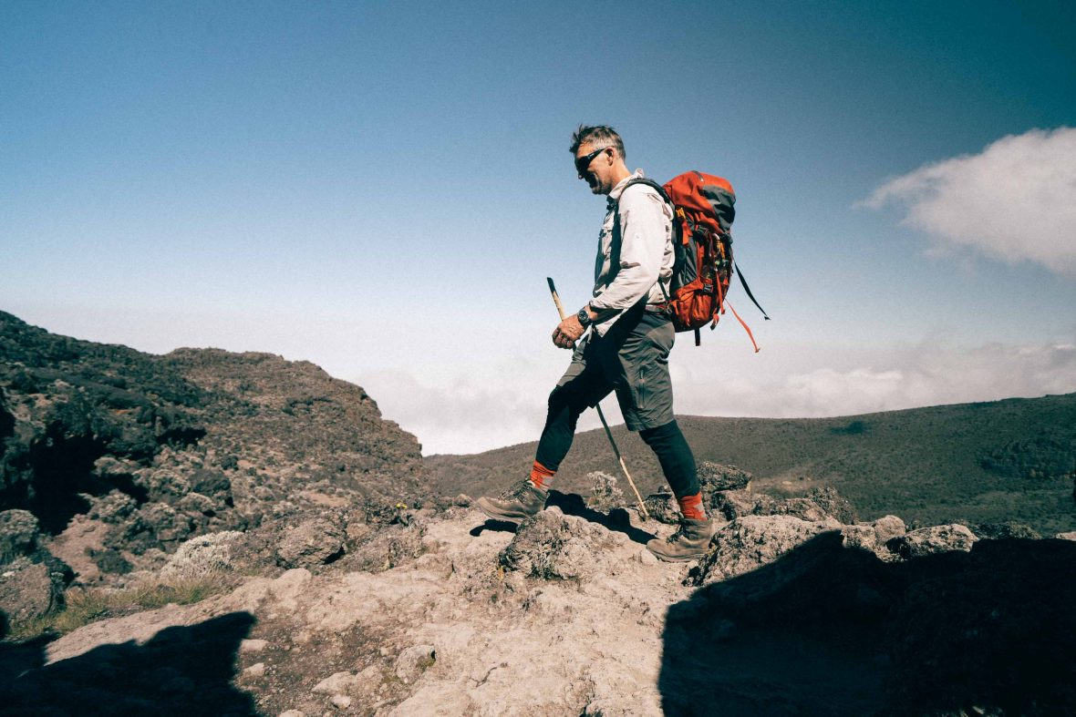 Tim puts his best foot forward on his recent ascent of Mount Kilimanjaro.