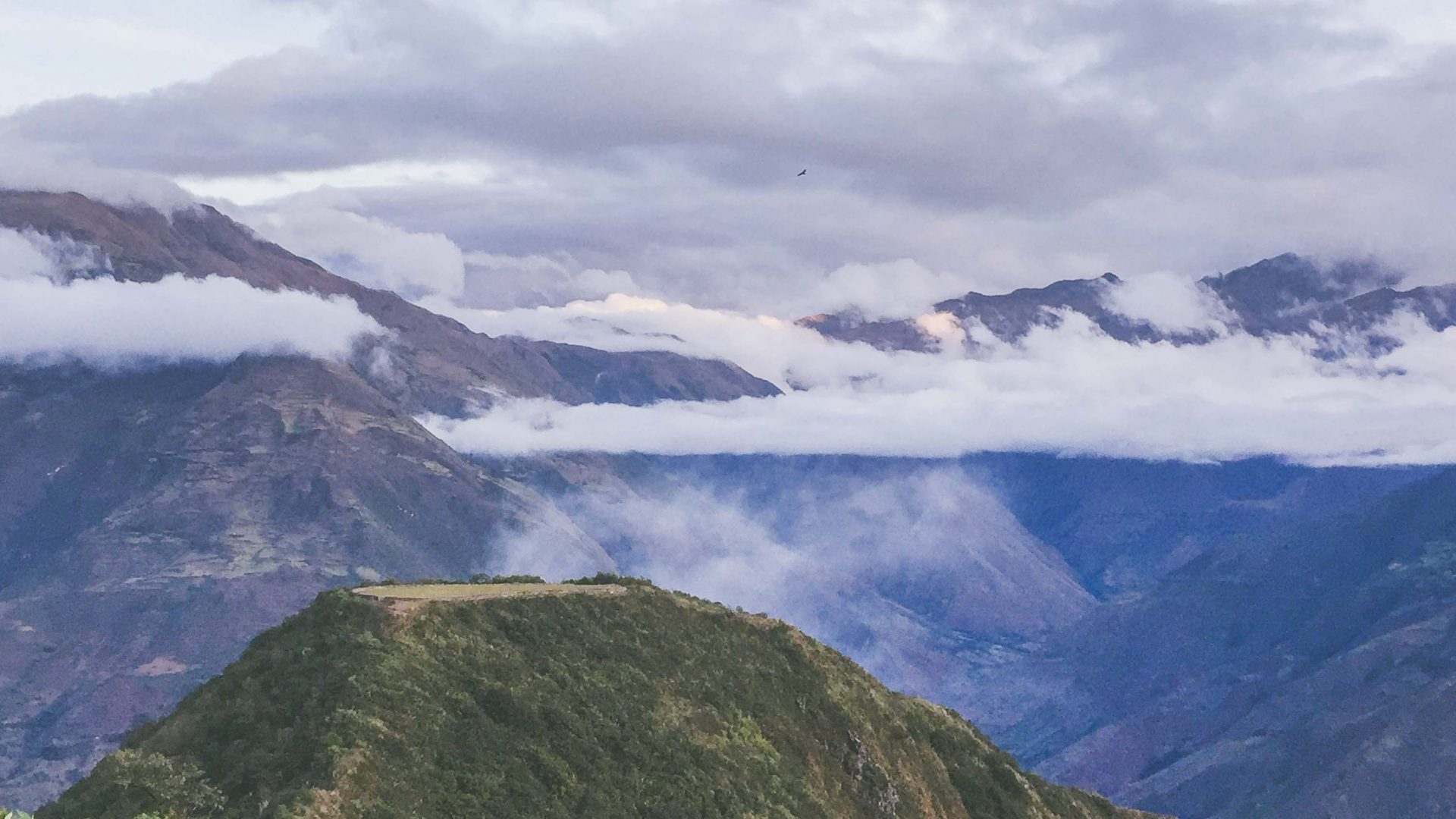 The stunning mountains in the Andes surrounding Choquequirao in Peru.