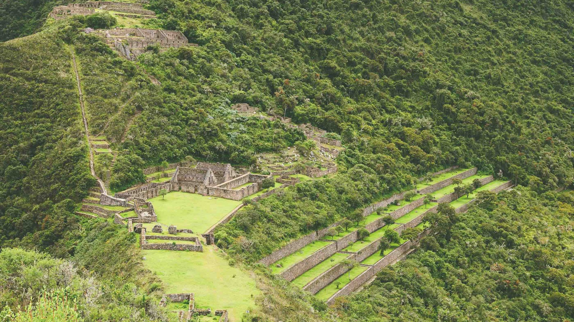 The Incan ruins of Choquequirao in Peru.