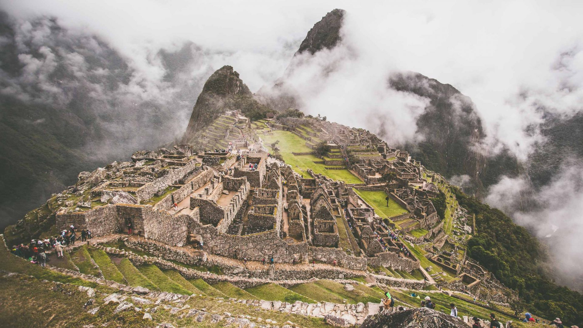 The ever popular ruins of Machu Picchu in Peru.