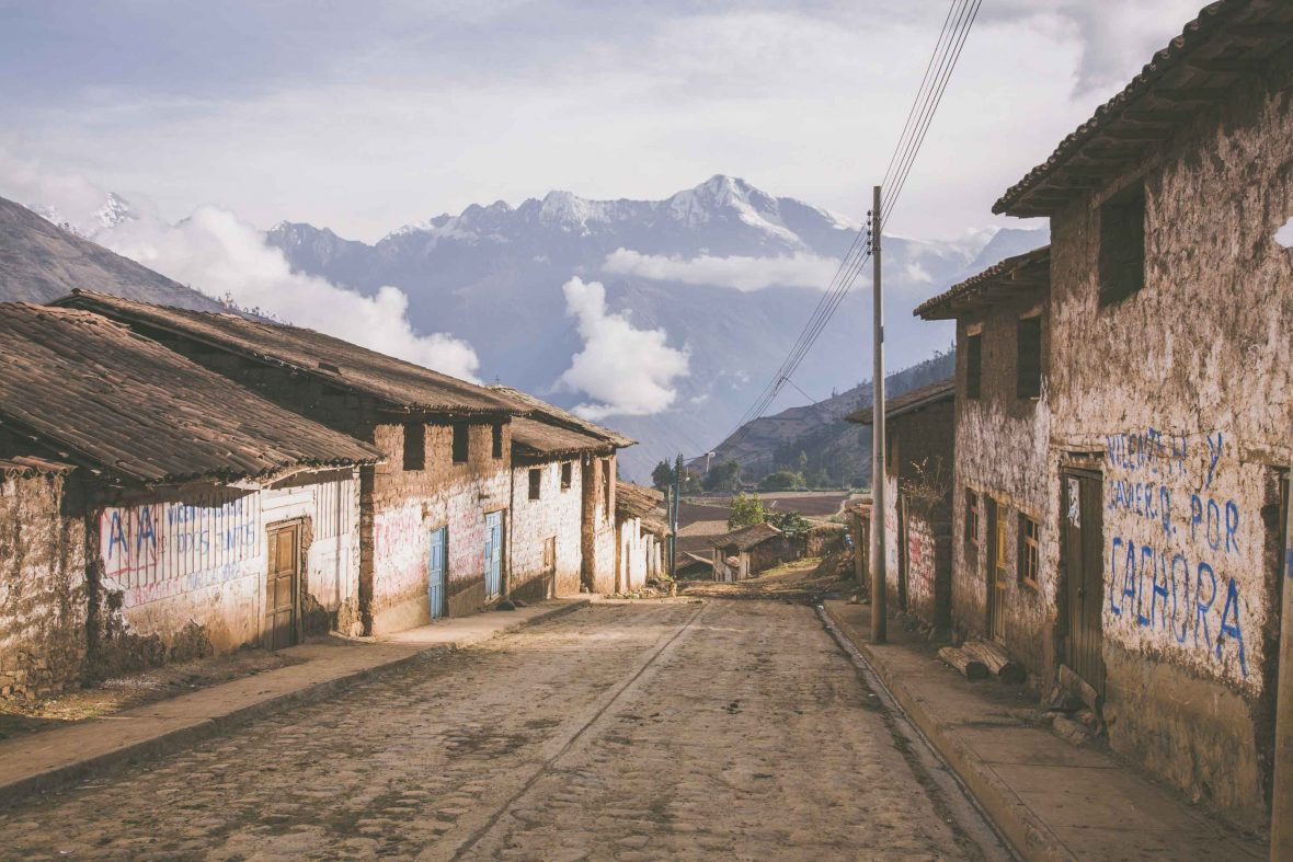 The small, quiet village of Cachora, a contrast to busy, hotel-filled Aguas Calientes or Machu Picchu Pueblo.