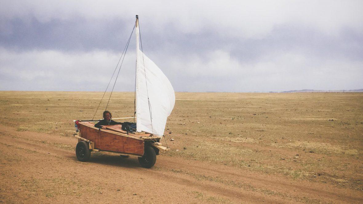 Meet the couple who sailed across Mongolia in a handmade cart