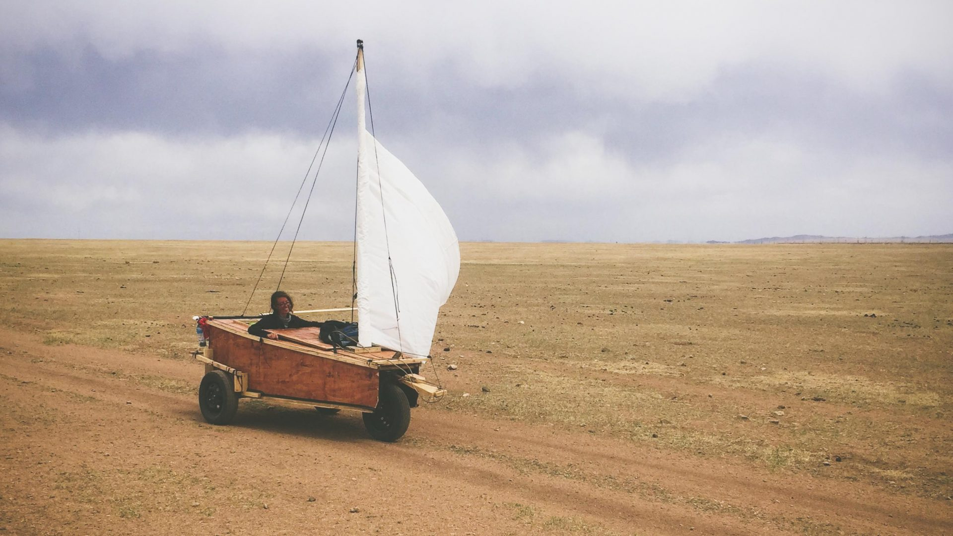 Meet the couple who sailed across Mongolia in a handmade cart