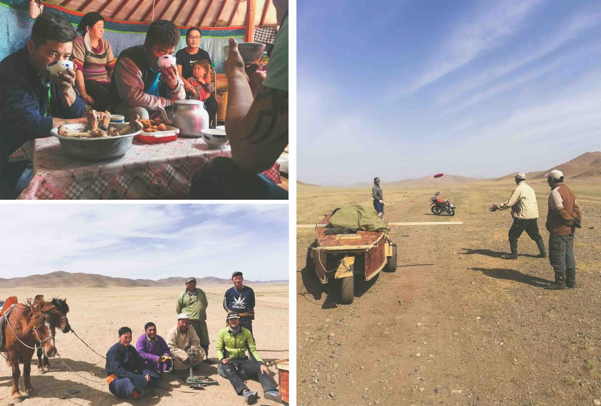 Friendships are formed with locals during their land sailing trip through Mongolia.