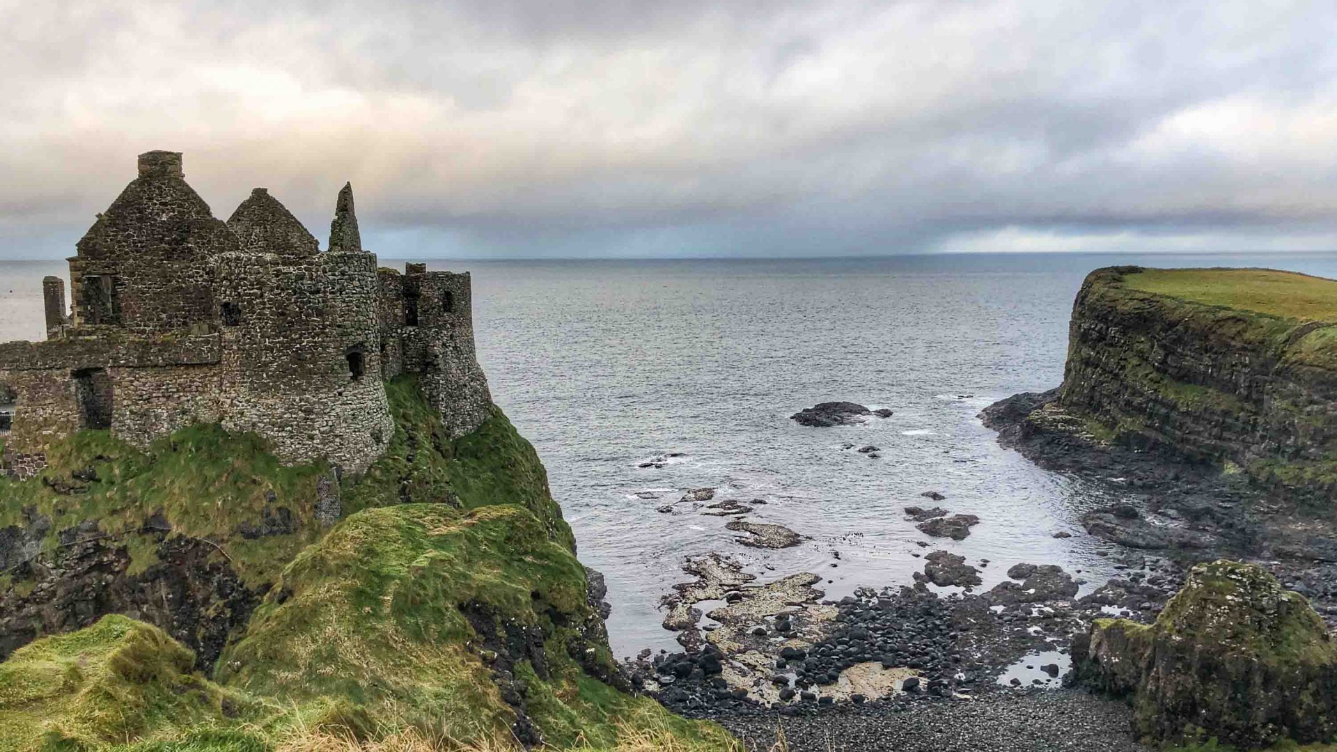 Dunluce Castle on the north coast of Northern Ireland.