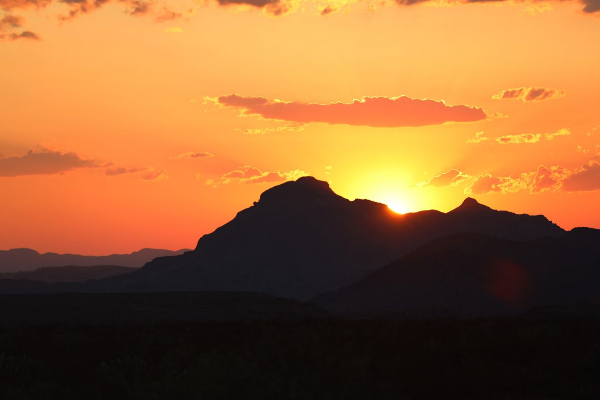 The setting sun is quite a spectacle in Big Bend National Park.
