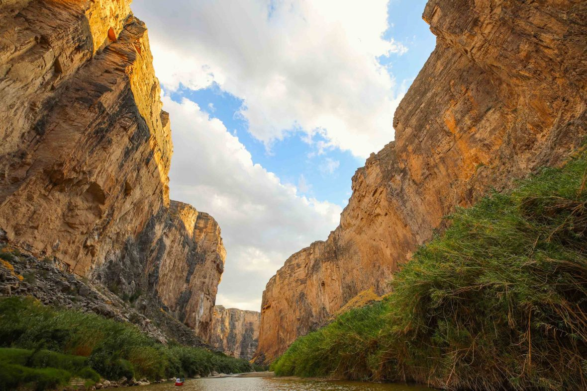 The canyon walls of Santa Elena in Texas.