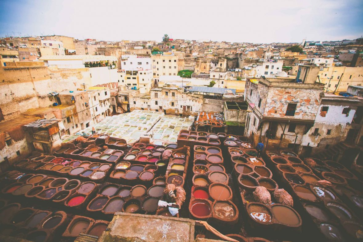 An aerial view over Fes in Morocco.