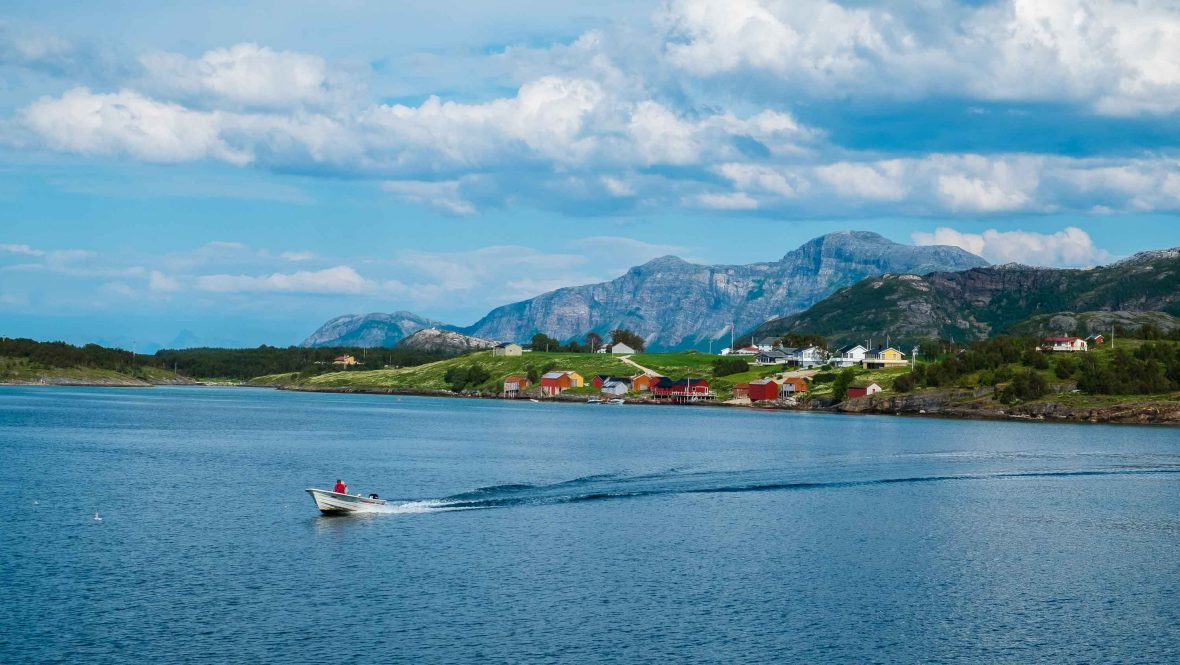 The archipelago of Fleinvær consists of over 360 islands, an hour off the mainland.