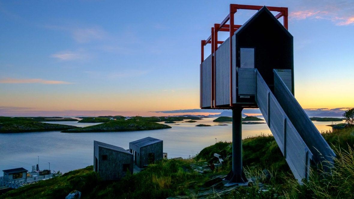 The Arctic Hideaway on Sørvær island in the Fleinvaer archipelago in Norway.
