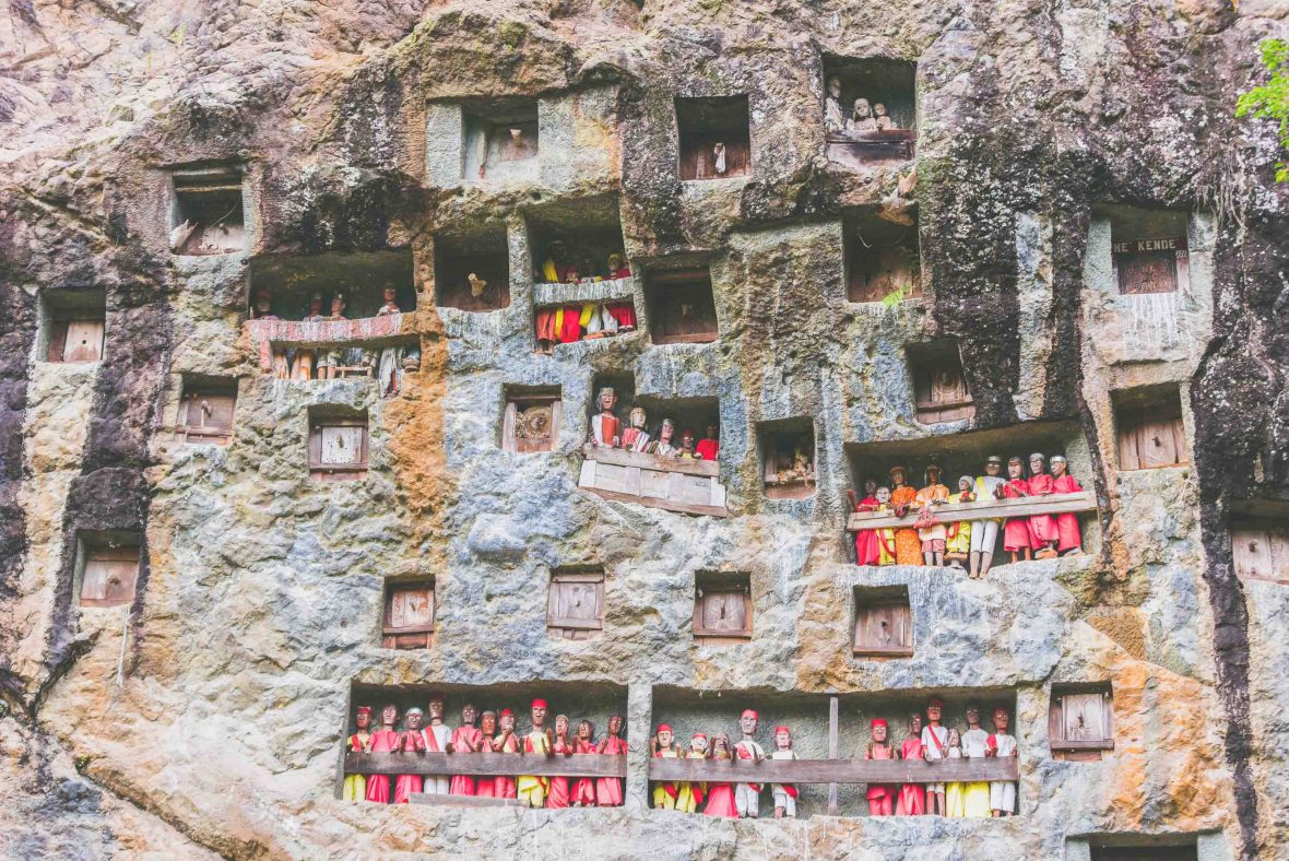Most people visit this part of Indonesia for the Tana Toraja burial caves and the gory funeral rites.