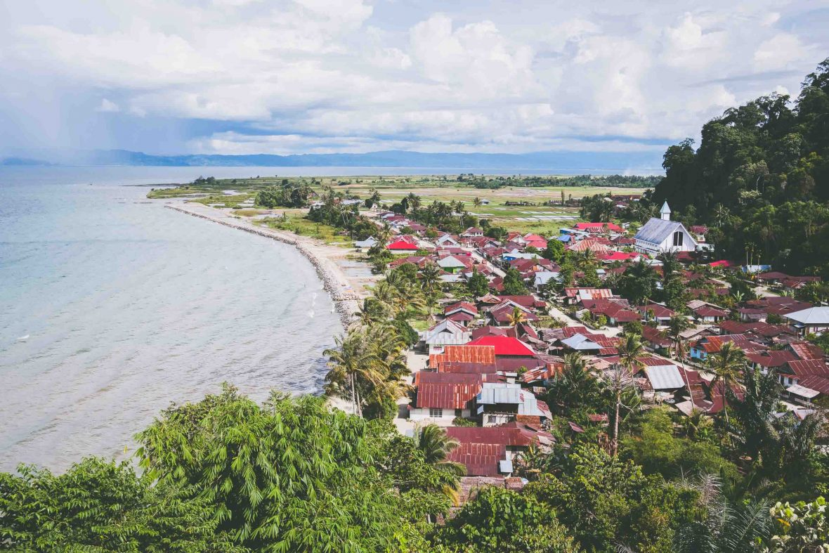 The village of Bancea, a tiny cluster of homes and white-washed churches on the western side of Poso Lake in central Sulawesi.