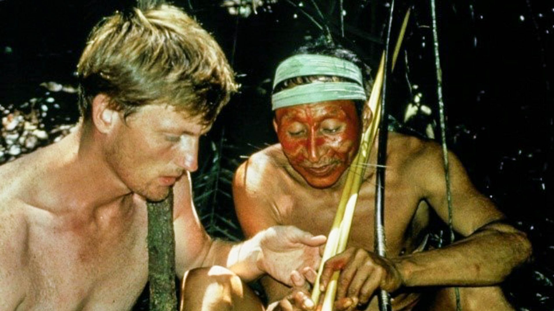Benedict with Pablito from the Matses or 'Jaguar People' who he lived with for three months.