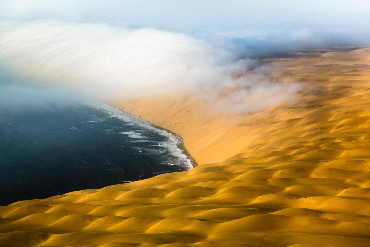 The Skeleton Coast in Namibia.