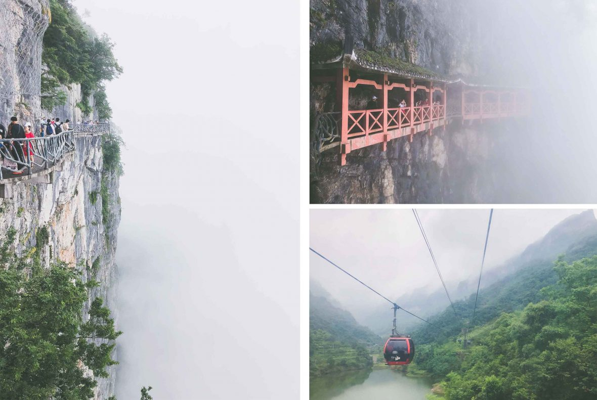 Views over Tianmen Mountains in Hunan province, China.