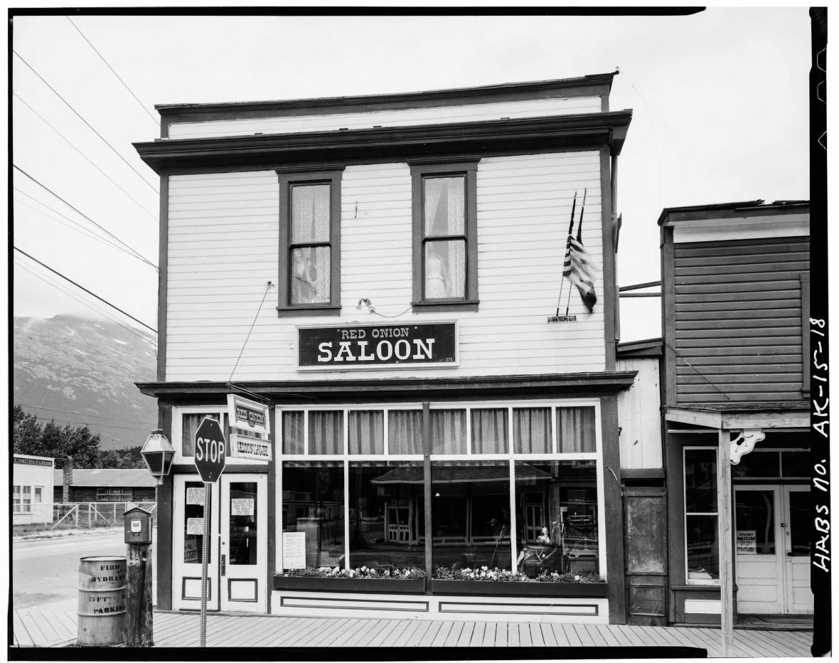 The Red Onion Saloon in 1898.