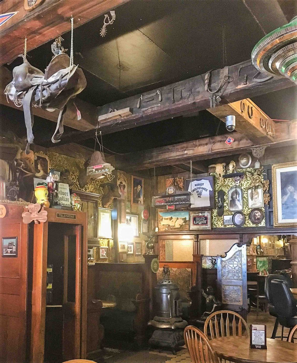 The interior of the Silver Dollar Saloon.