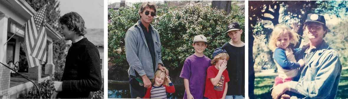 Writer David Leffler's dad when he was younger with his four children.