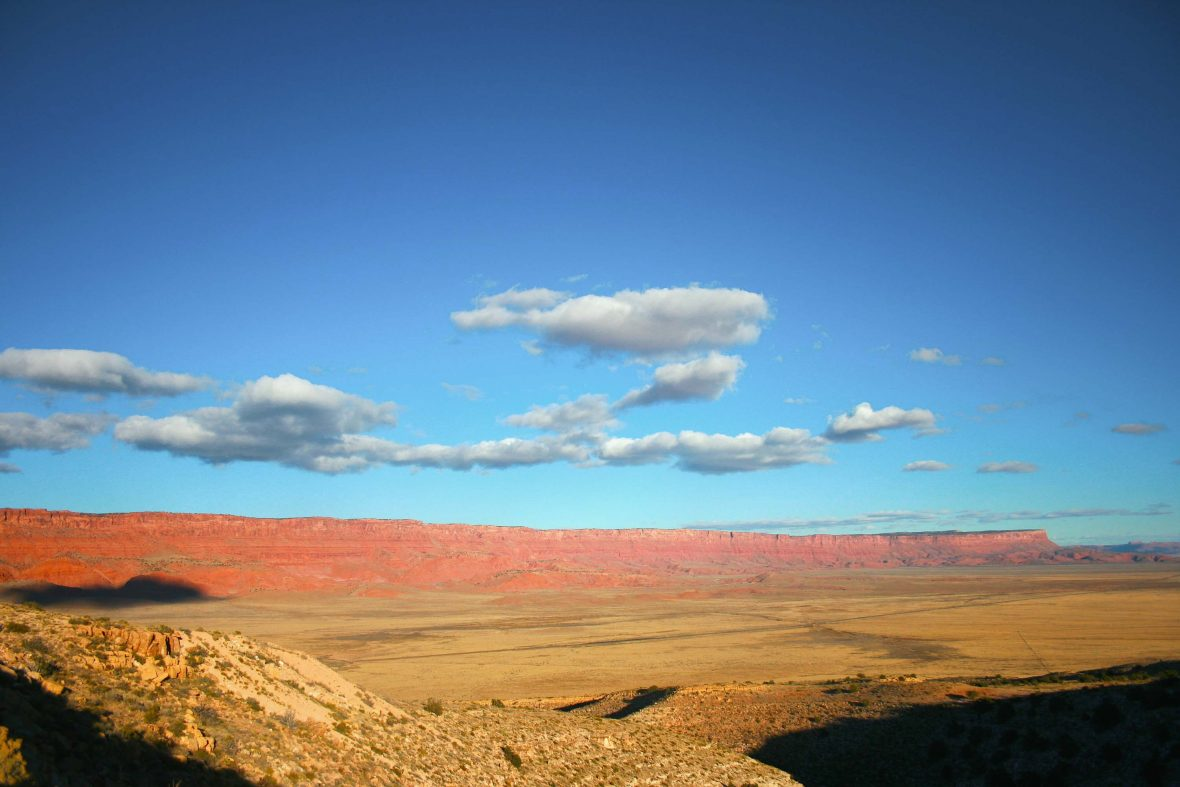 A typical Arizona panorama—David found comfort in being amid some of America's great natural spectacles.