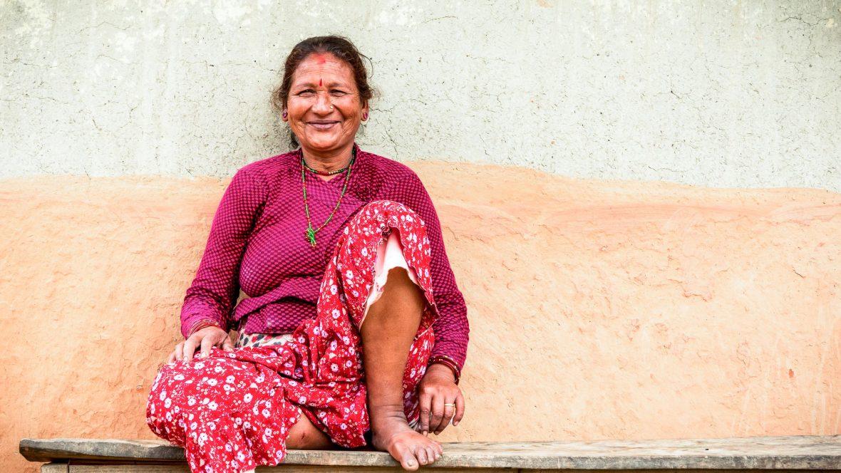 A woman in Panauti, Nepal.