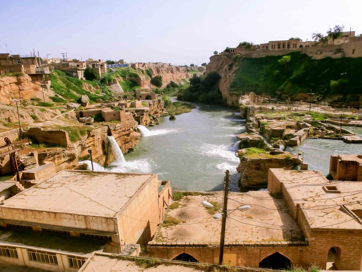 Old water systems at the ancient city of Shushtar, a UNESCO World Heritage Site in southern Iran.